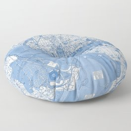 Washington DC Map Floor Pillow
