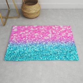 Aqua & Magenta Glitter Bubbles Rug