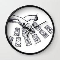 tarot Wall Clocks featuring Tarot by Ana Petre