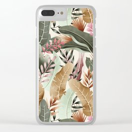 Wild jungle foliage 05 Clear iPhone Case