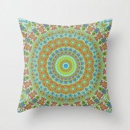 Boho Mandala V Throw Pillow