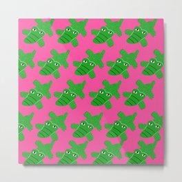 Crocodile pattern Metal Print