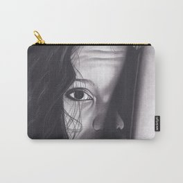Realism Charcoal Drawing of Woman from Honduras Carry-All Pouch
