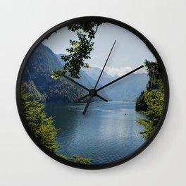 Germany, Malerblick, Mountains - Alps Koenigssee Lake Wall Clock
