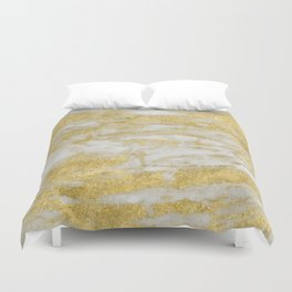 Bassiano golden marble Duvet Cover
