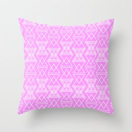 RIGHT AND WRONG III: PINK NIGHTMARE Throw Pillow