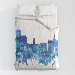 Dover Delaware Skyline Blue Comforters