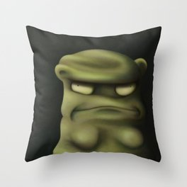 Bad Kuchi Kopi Throw Pillow