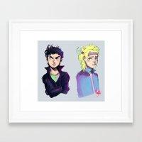 jjba Framed Art Prints featuring JJBA :: Joseph n Caesar by Thais Magnta Canha