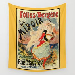French belle epoque mime theatre advertising Wall Tapestry