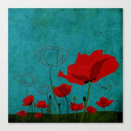 Flowers: Poppy Canvas Print