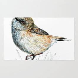 Mr Riroriro, the New Zealand Grey Warbler Rug