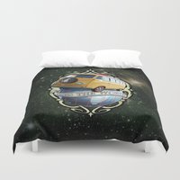 vw bus Duvet Covers featuring VW T1 Bus - Cross the World by GET-THE-CAR
