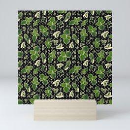 Sage Textile Print - Black with Polka Dots Mini Art Print