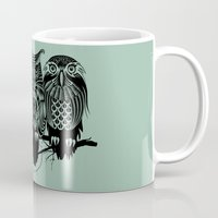 rare Mugs featuring Owls of the Nile by Rachel Caldwell