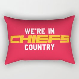 We're in Chiefs Country Rectangular Pillow