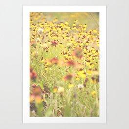 Yellow Joy Art Print