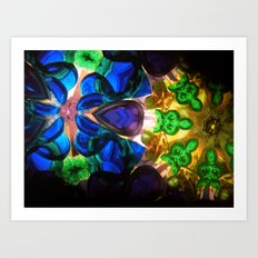 Kaleido: Blue, Green, Yellow Art Print