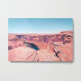 Desert at Horseshoe Bend, Arizona, USA Metal Print