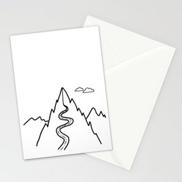 Road to the Mountains in outline style Stationery Cards