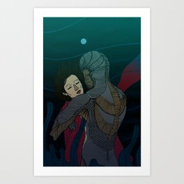 Fluid love Art Print