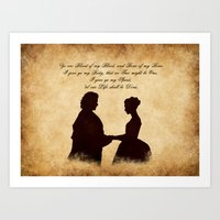 outlander Art Prints featuring Outlander wedding by QINdesign