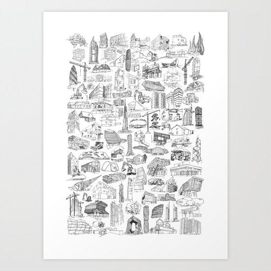 XXI Architecture Art Print