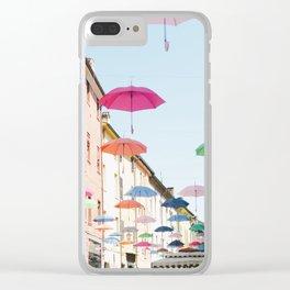 Umbrellas of Ferrara III Clear iPhone Case