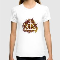 deathly hallows T-shirts featuring The Deathly Hallows (Gryffindor) by FictionTea