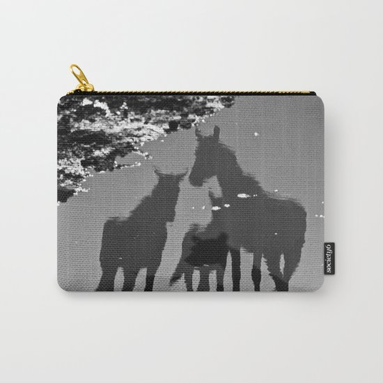 the reflection of horses Carry-All Pouch