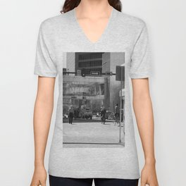 Downtown Calgary at lunch time Unisex V-Neck