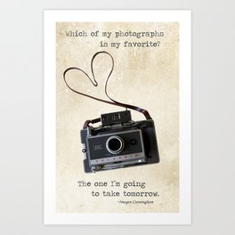 Vintage Polaroid Camera Art Print