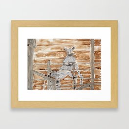 Sario Painter, Animal Farm. Framed Art Print