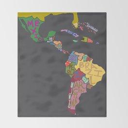 Map. Mapa. Carte. Dos! Throw Blanket