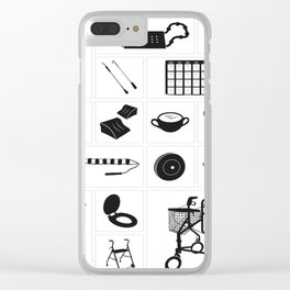 Modern medical equipment and supplies - set 1 Clear iPhone Case