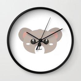 Cute friendly Koala head Wall Clock
