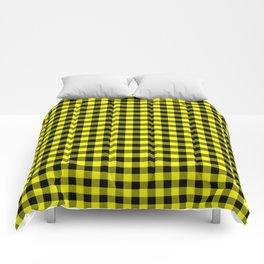 Classic Yellow Country Cottage Summer Buffalo Plaid Comforters