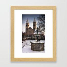 Viborg Catherdal in Winter Framed Art Print