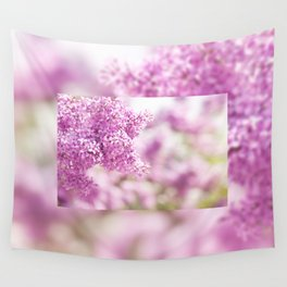 Lilac vibrant pink inflorescence shrub Wall Tapestry