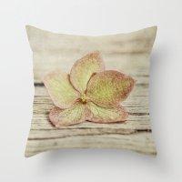 hydrangea Throw Pillows featuring hydrangea by Bonnie Jakobsen-Martin