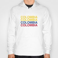 colombia Hoodies featuring COLOMBIA by eyesblau