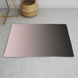 Black, pink - gray Ombre. Rug