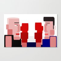 boxing Canvas Prints featuring boxing by eddalons
