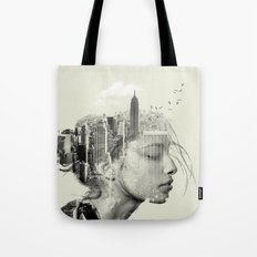 Reflection, New York City Tote Bag
