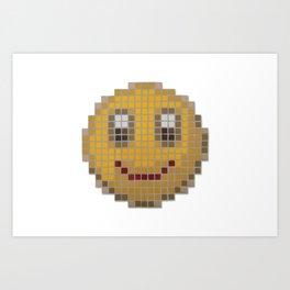 Emoticon Smile Art Print