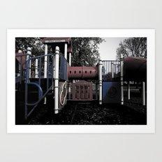 Old School Yard #5 Art Print