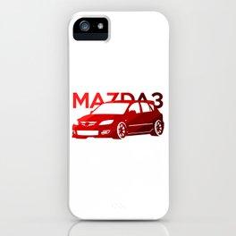 Mazda 3 - classic red - iPhone Case