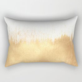 Brushed Gold Rectangular Pillow