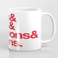 dungeons and dragons Mugs featuring Dungeons & Dragons & Swag by Tuff Industries