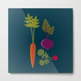 Vegetable Medley Metal Print